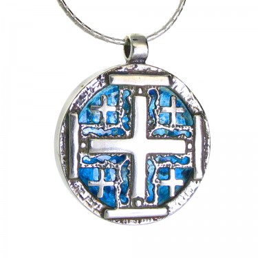 Jerusalem Cross in Roman Glass