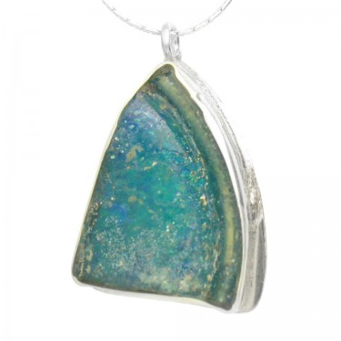 Roman Glass Freeform Pendant