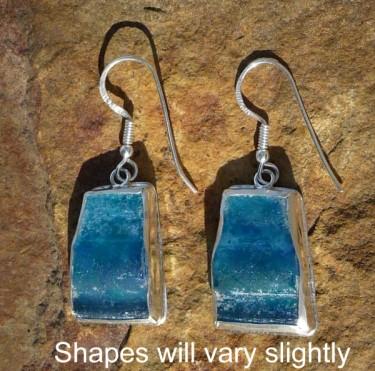Freeform Roman Glass Earrings