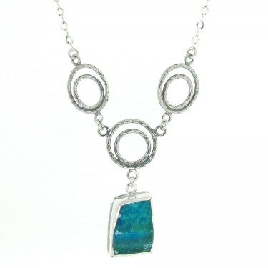 Handcrafted Roman Glass Designer Necklace