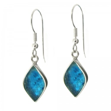Marquise Shaped Roman Glass Earrings