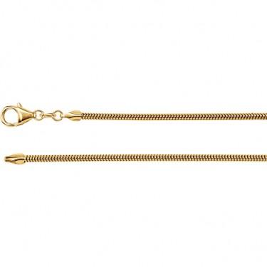 14kt Gold Snake Chain