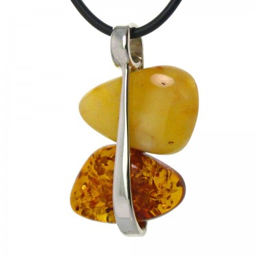 Two Color Amber Pendant
