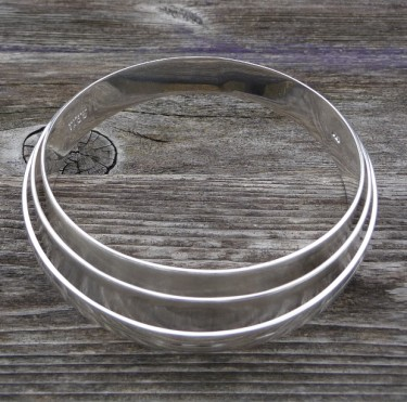 Inca Inspired Silver Bangle