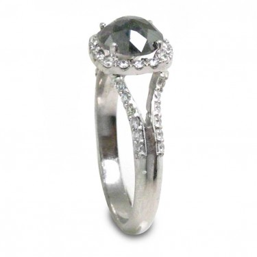 Black Diamond and Platinum Ring