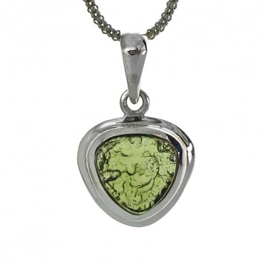 A Shield Cut Moldavite Pendant